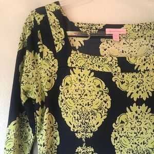 Lilly Pulitzer Dresses - Lilly Pulitzer Navy green Newport dress size 10